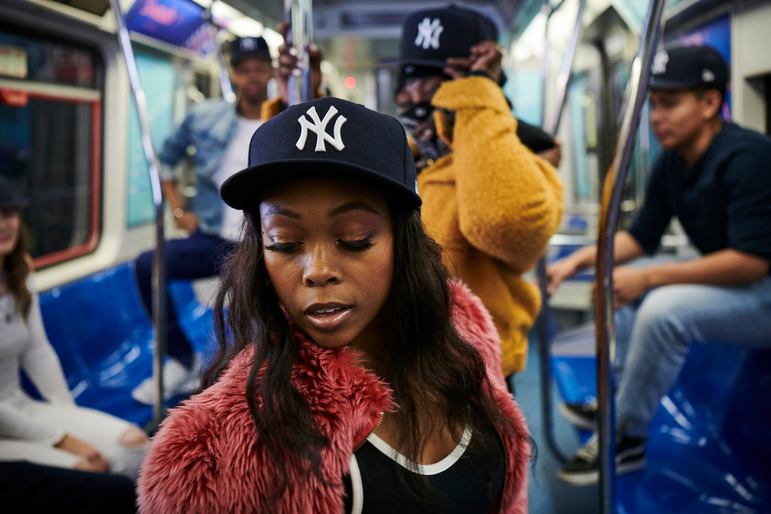 Girl Wearing Yankees Fitted Hat