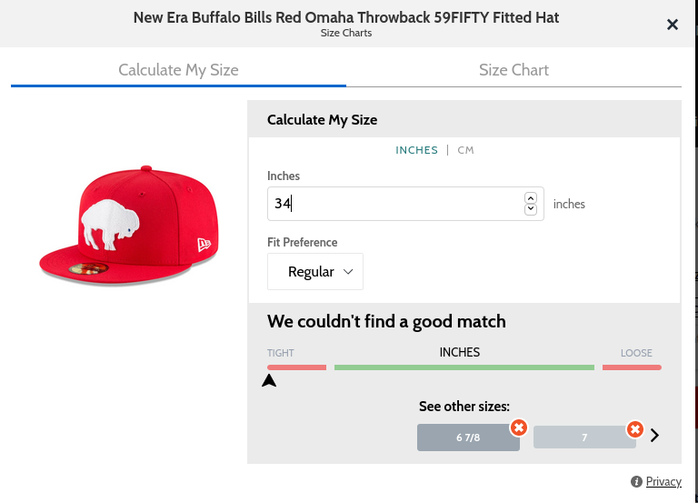 fitted hat sizes