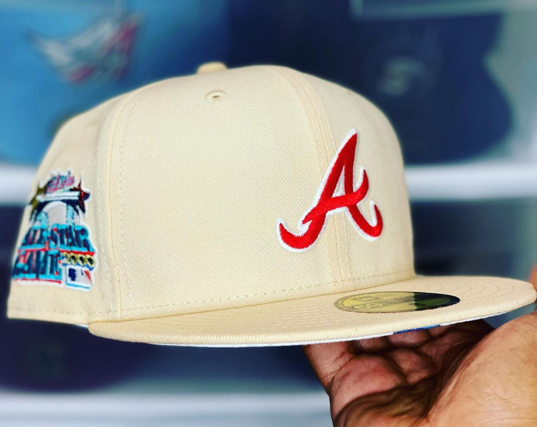 Cream Atlanta Braves 59Fifty fitted hat