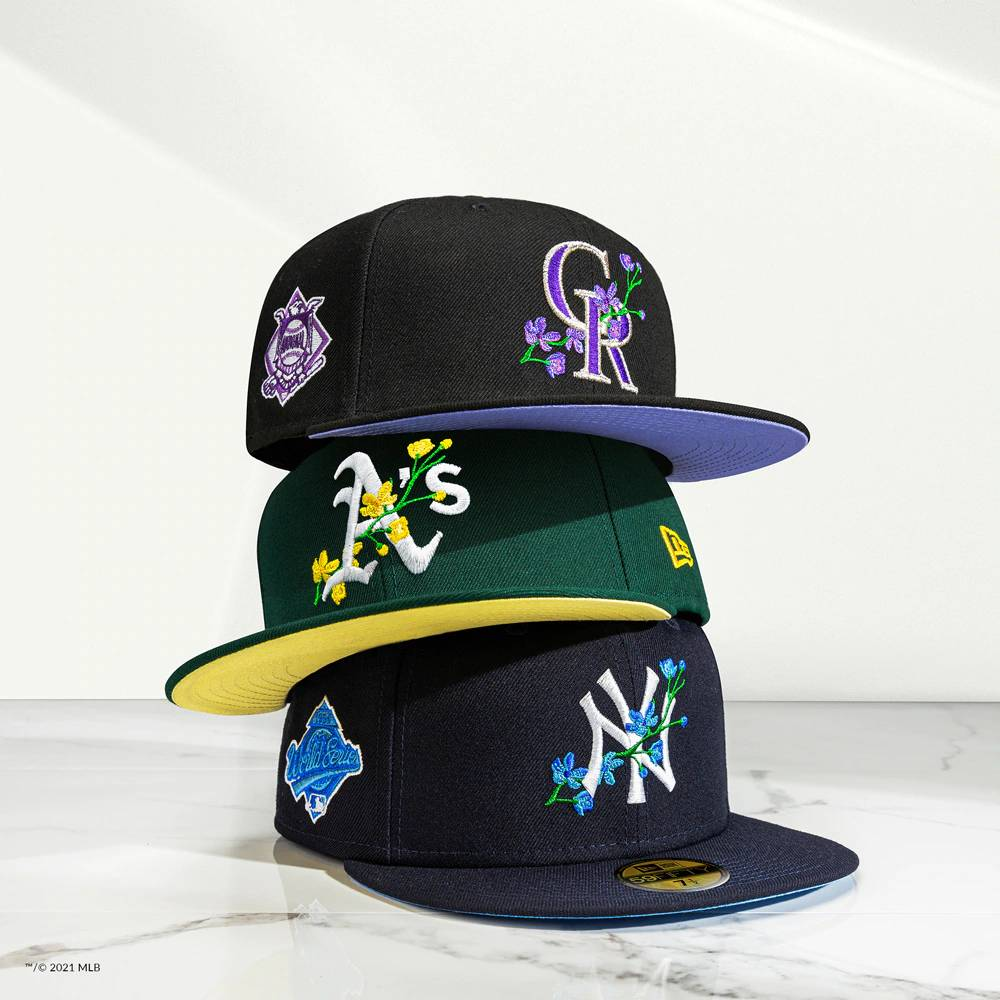 MLB Side Patch Bloom Fitted Hats