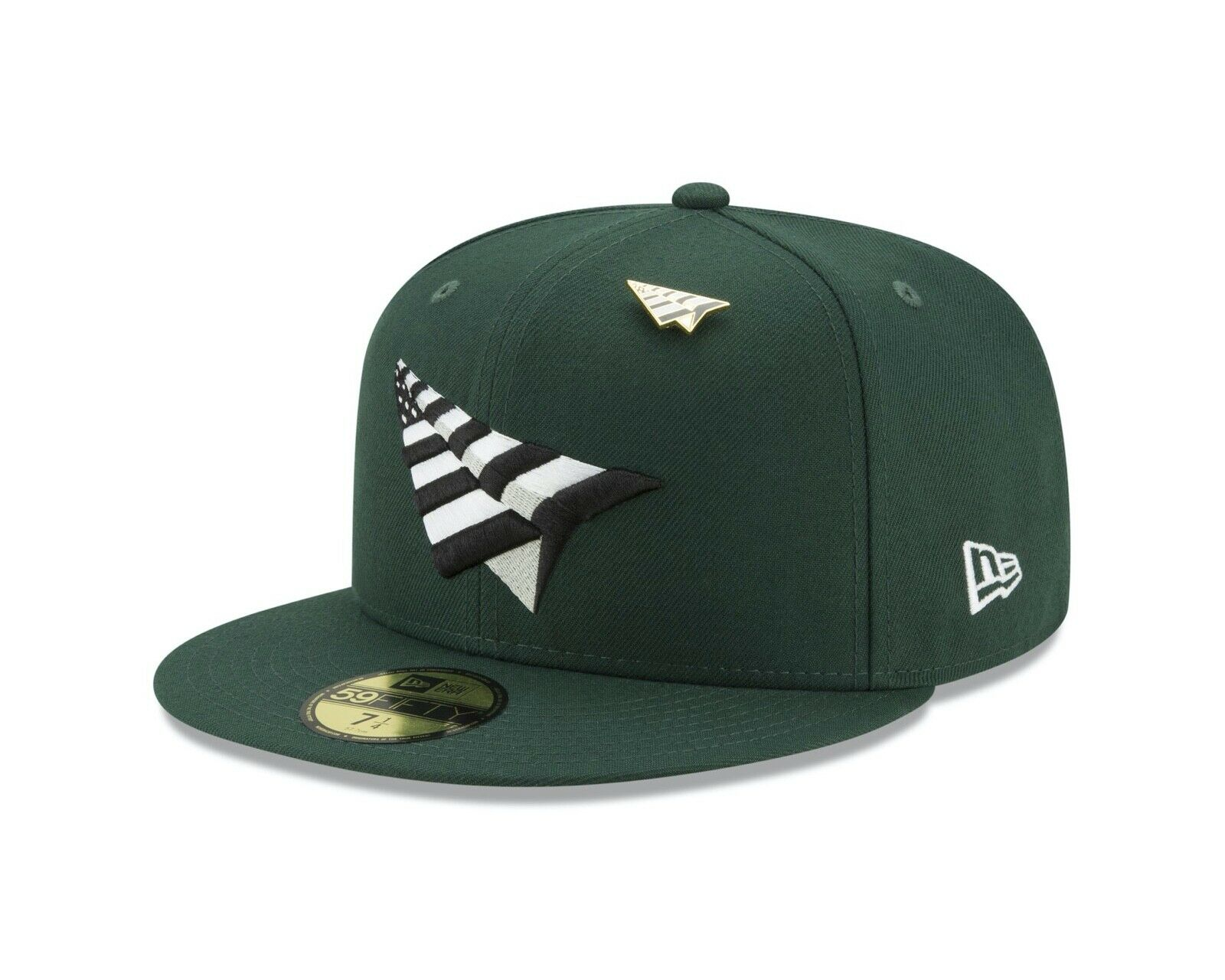 Dark Green Paper Planes Fitted Hats