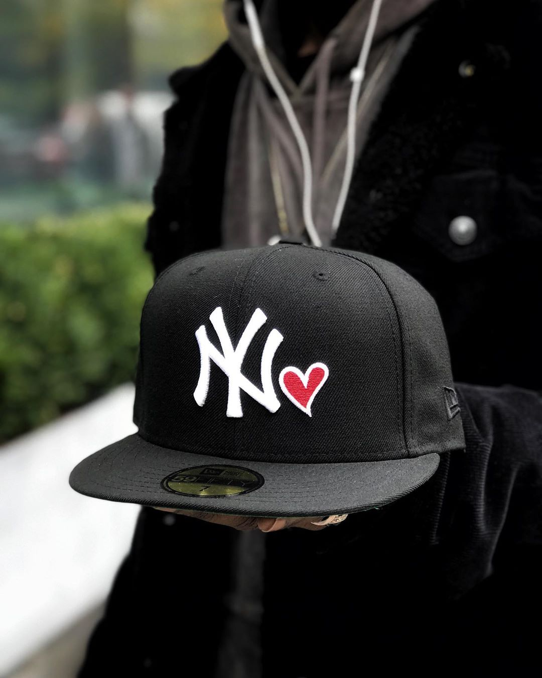 New Era Black New York Yankees Heart ❤️ 59Fifty Fitted Hat