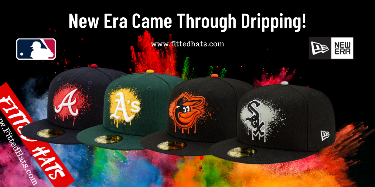 MLB Drip Front Fitted Hats
