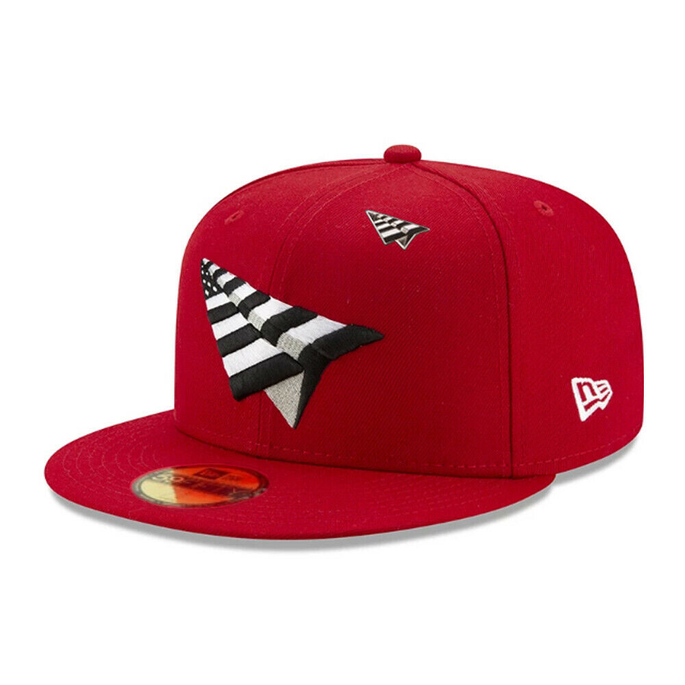 red paper planes fitted hat
