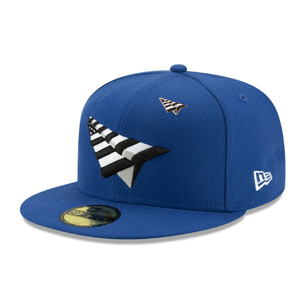 blue paper planes fitted hat