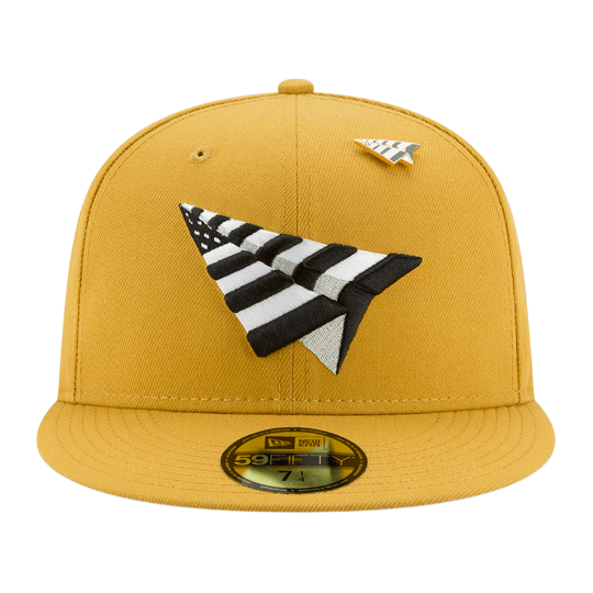 Tan Paper Planes Fitted Hat