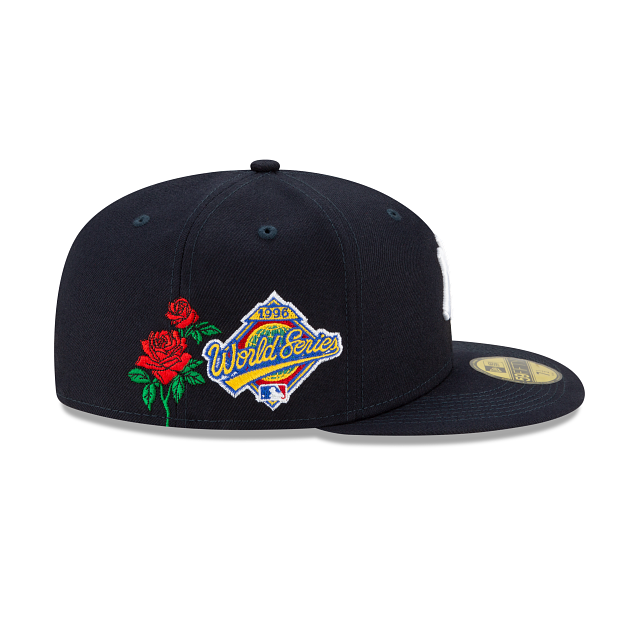 New York Yankees MLB State Flower Fitted Hat