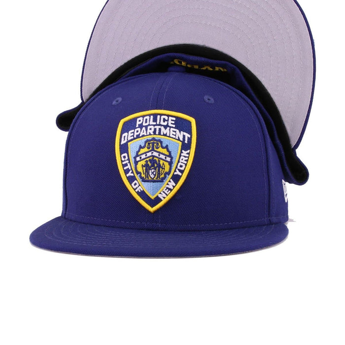 New Era NYPD Shield Dark Royal 59Fifty Fitted