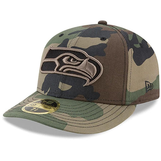 Seattle Seahawks Camo Low Profile Fitted Hat