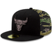 Chicago Bulls Camo Panel Fitted Hat