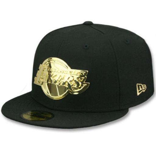 New Era LA Lakers Gold Badge 59Fifty Fitted Hat