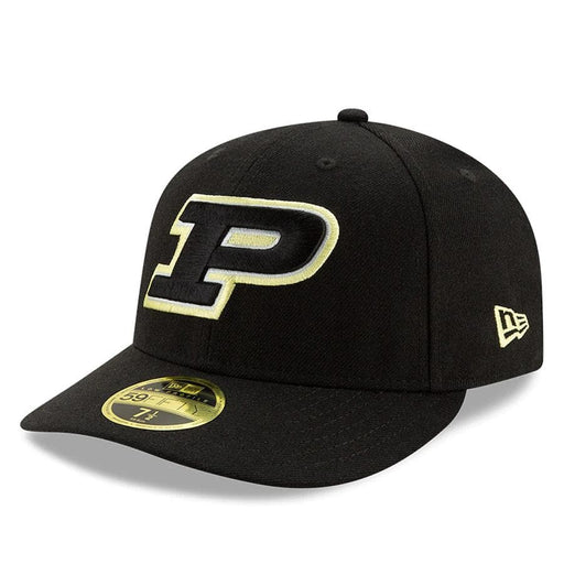 New Era Purdue Boilermakers Black Basic Low Profile 59FIFTY Fitted Hat