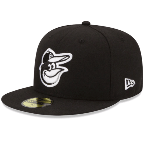 Baltimore Orioles Black and White Fitted Hat