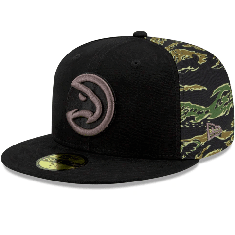 New Era Atlanta Hawks Camo Panel 59Fifty Fitted Hat