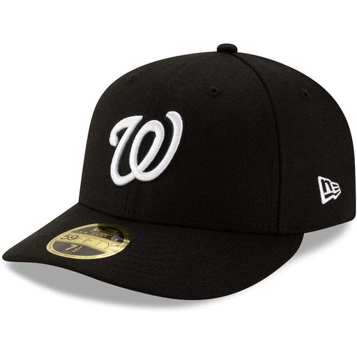 Washington Nationals Black Low Profile Fitted Hat