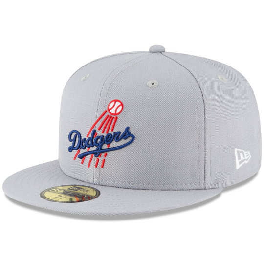 LA Dodgers Gray Fitted Hat