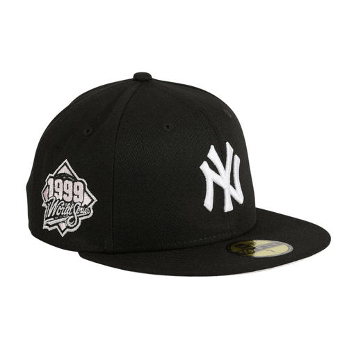 New York Yankees Pink Bottom Fitted Hat