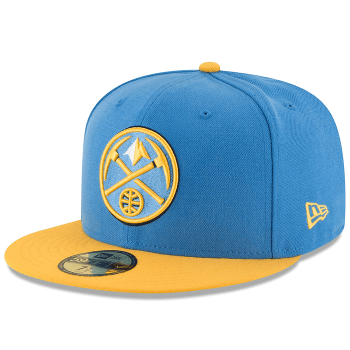 New Era Denver Nuggets Baby Blue 59Fifty Fitted Hat