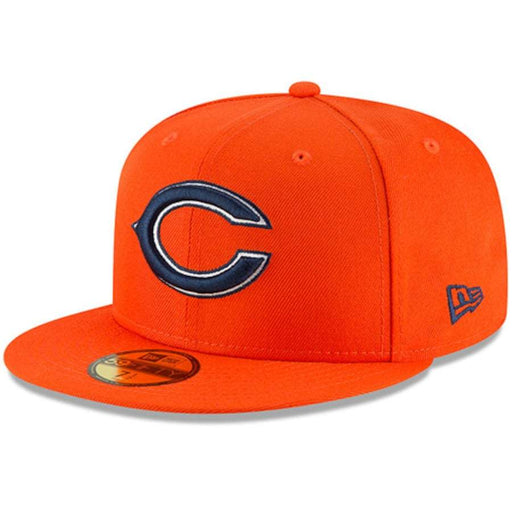 New Era Chicago Bears Orange Omaha 59FIFTY Fitted Hat