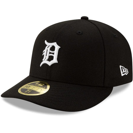 New Era Detroit Tigers Black Low Profile 59FIFTY Fitted Hat
