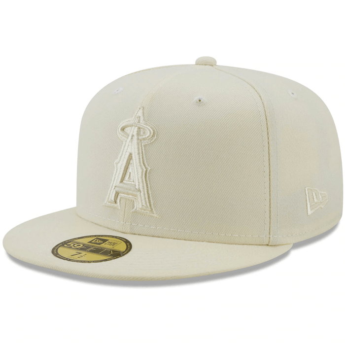 LA Angels Cream 59Fifty Fitted Hat