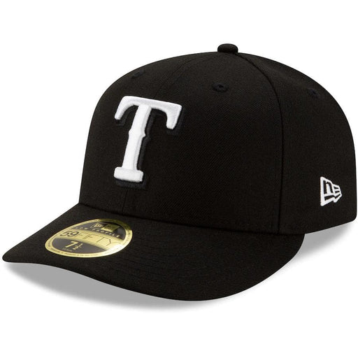 New Era Texas Rangers Black Low Profile 59FIFTY Fitted Hat