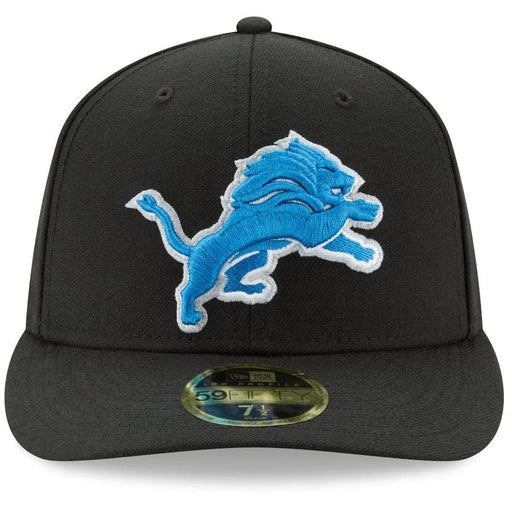 Black Detroit Lions 59Fifty Low Profile Fitted Hat