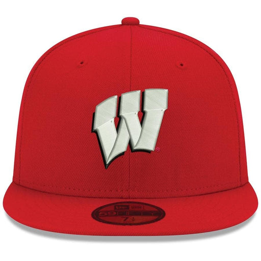 New Era Wisconsin Badgers Red 59FIFTY Fitted Hat