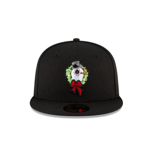 Frosty The Snowan Wreath Fitted Hat