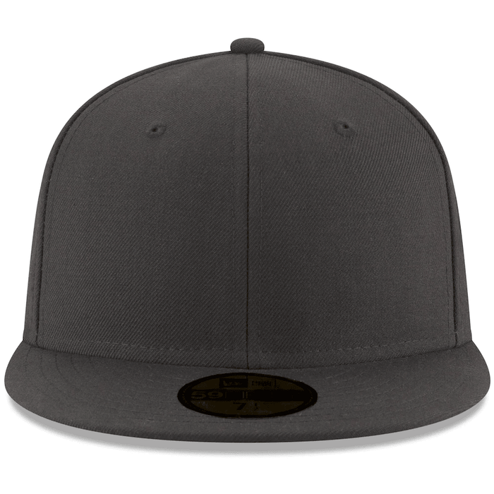 Blank Gray Fitted Hat