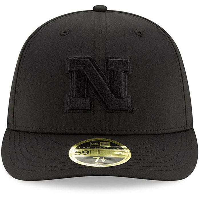 New Era Nebraska Huskers Black on Black Low Profile 59FIFTY Fitted Hat