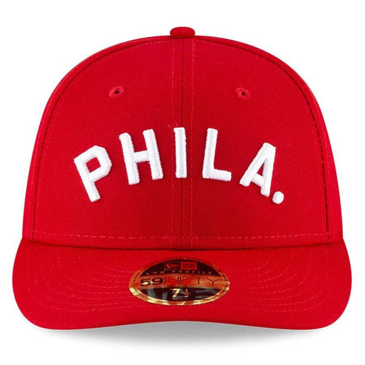 New Era Philadelphia Phillies Red Ligature Low Profile 59FIFTY Fitted Hat