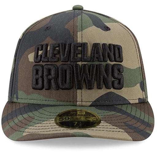 Cleveland Browns Camo Low Profile Fitted Hat