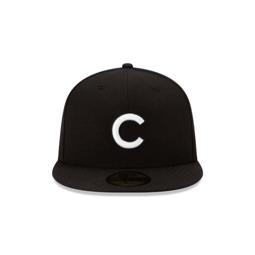 Chicago Cubs Black and White Fitted Hat