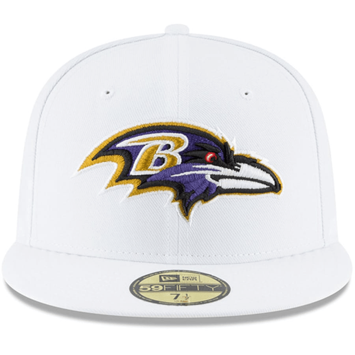 Baltimore Ravens White Fitted Hat