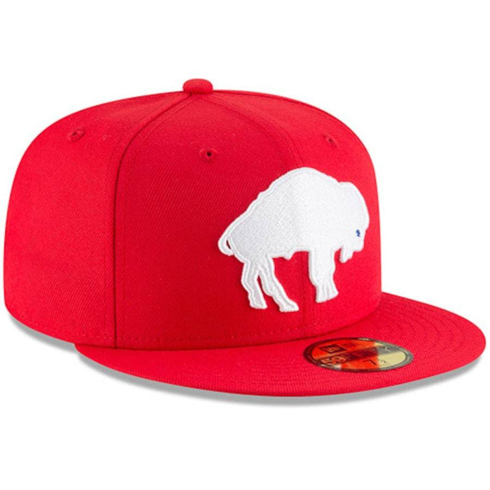 New Era Buffalo Bills Red Omaha Throwback Fitted Hat
