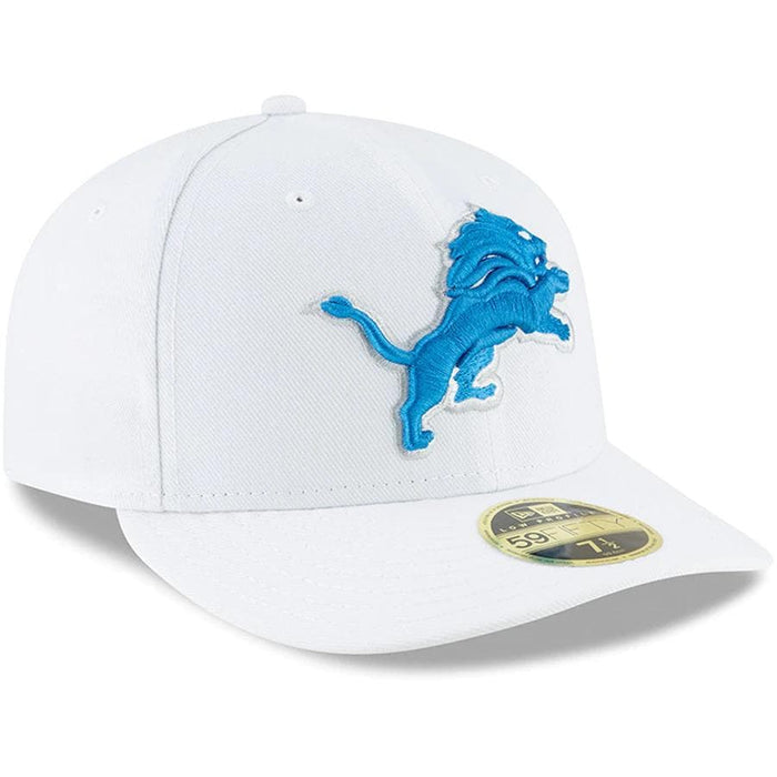 New Era Detroit Lions White Omaha Low Profile 59FIFTY Fitted Hat