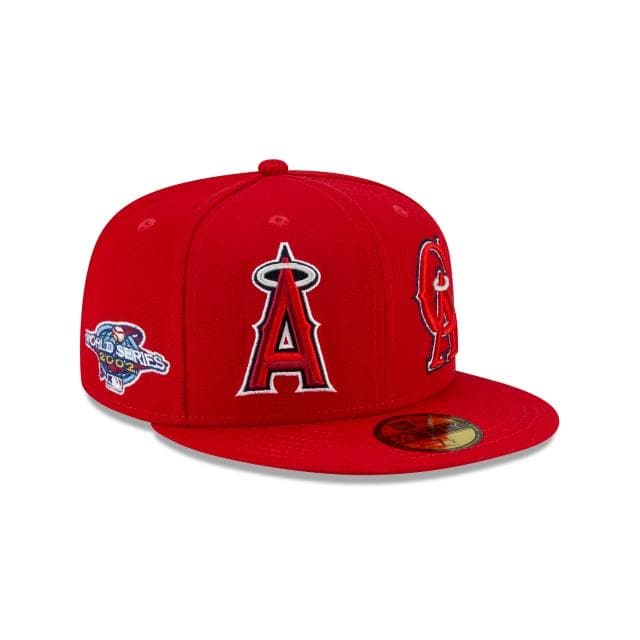 Los Angeles Angels Patch Pride Fitted Hat