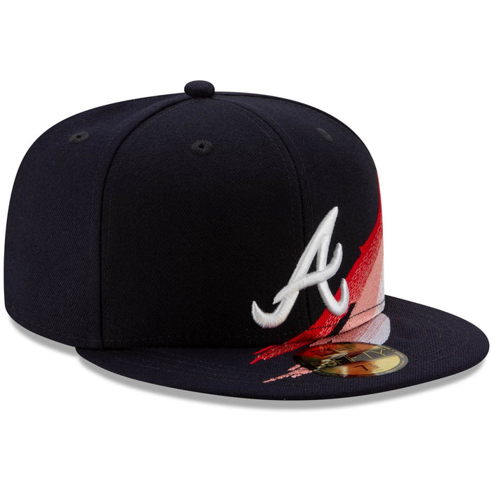 New Era Atlanta Braves Brush 59FIFTY Fitted Hat w/ Air More Uptempo