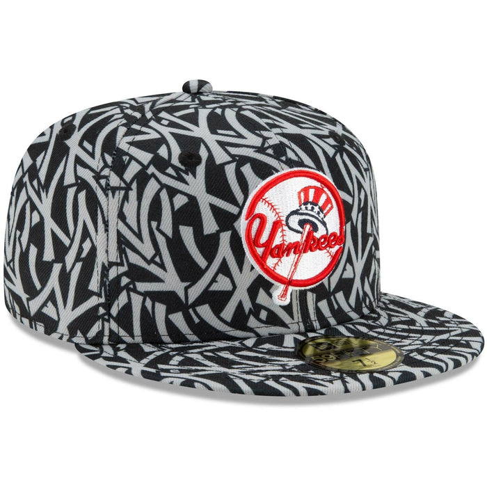 New Era New York Yankees Team Print 59Fifty Fitted Hat