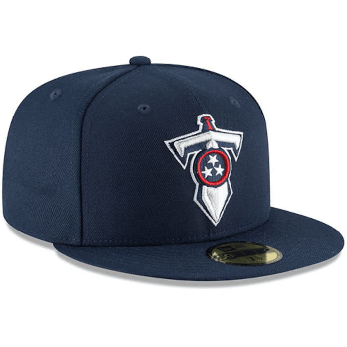 New Era Tennessee Titans Navy Omaha 59FIFTY Fitted Hat