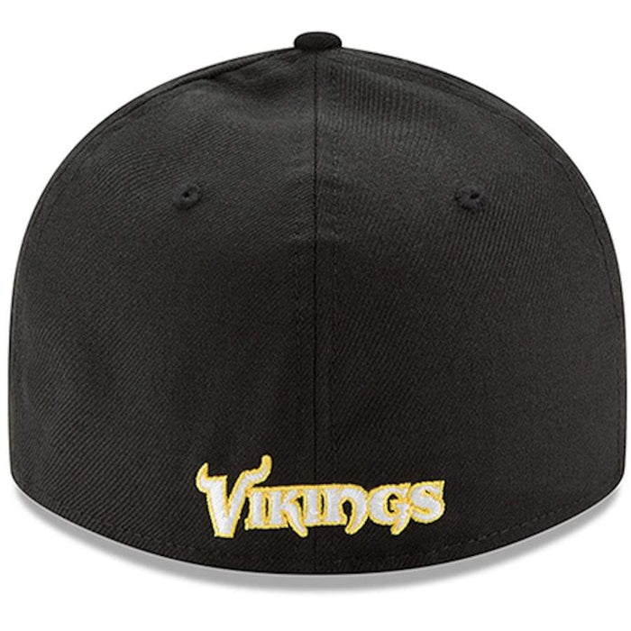 New Era Minnesota Vikings Black Omaha Low Profile 59FIFTY Fitted Hat