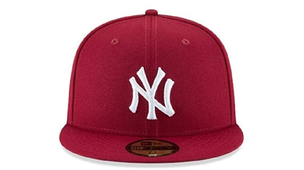 New Era 59Fifty Burgandy New York Yankees Fitted Hat