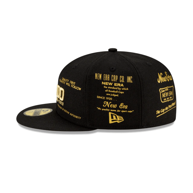 Gold 100th Anniversary New Era Fitted Hat