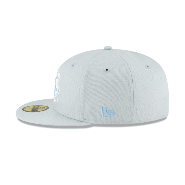Snowflake Grey Fitted Hat