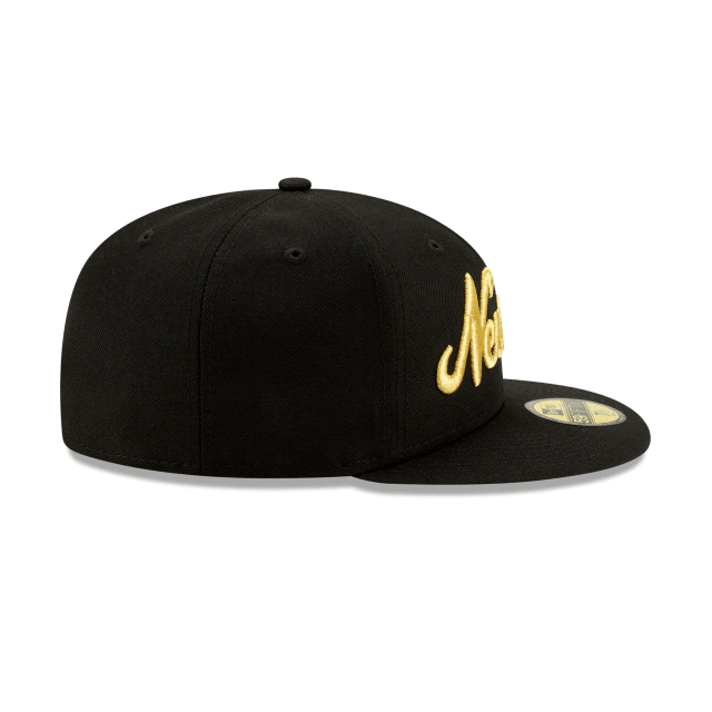 New Era Gold Script Fitted Hat