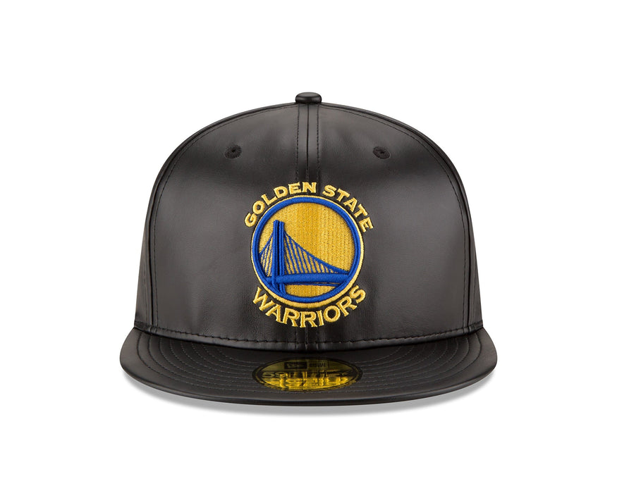 New Era Golden State Warriors Leather 59FIFTY Fitted Hat