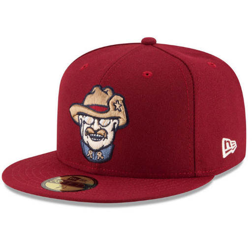 Frisco RoughRiders Burgandy Fitted Hat