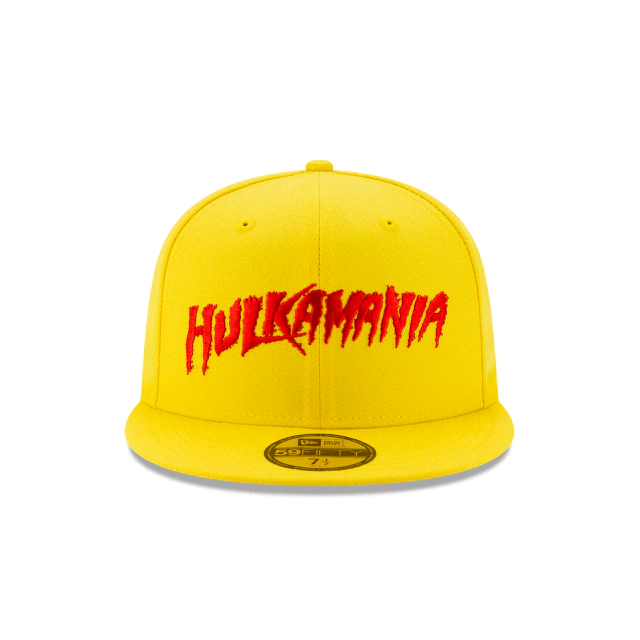 "New Era Hulk Hogan Yellow ""Hulkamania"" 59Fifty Fitted Hat"
