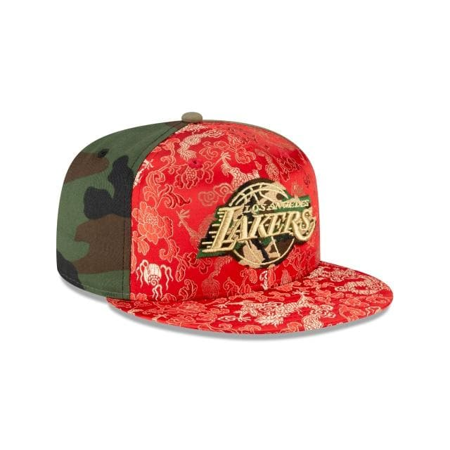 New Era  Los Angeles Lakers Dragon Satin 59Fifty Fitted Hat